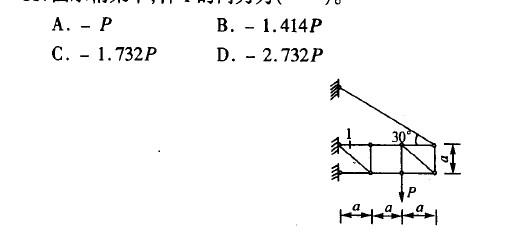 《结构力学》16春平时作业1